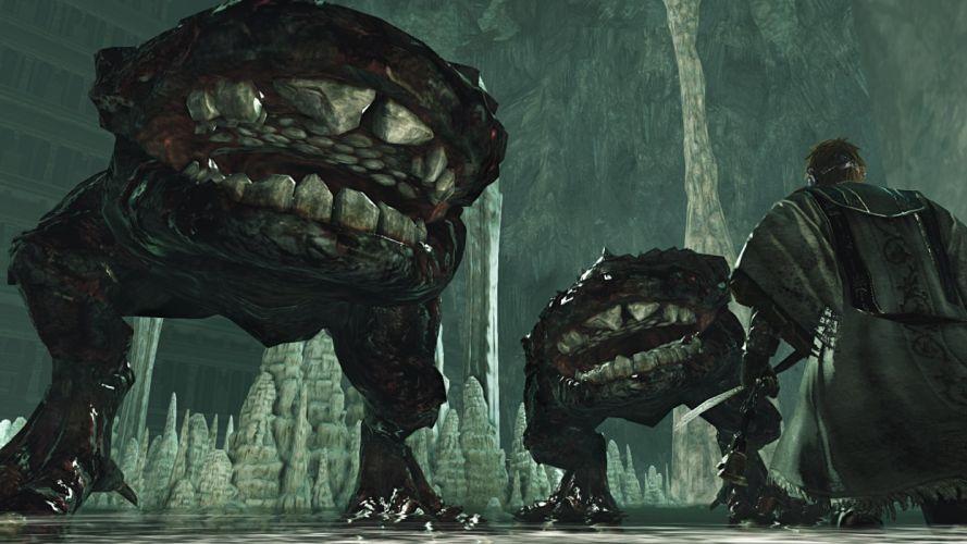 DARK SOULS fantasy action fighting warrior battle technical artwork 1dsouls exploration stealth monster creature wallpaper