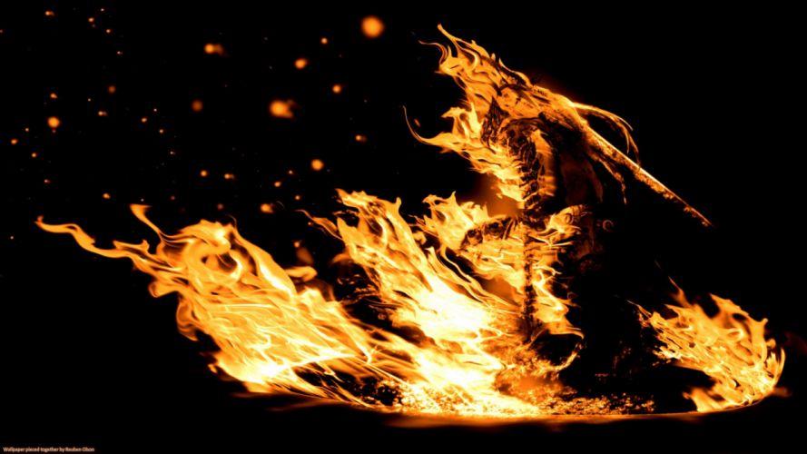 DARK SOULS fantasy action fighting warrior battle 1dsouls poster g fire wallpaper