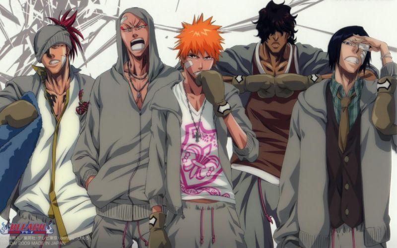 anime series character guys Bleach Group wallpaper