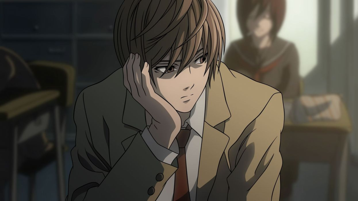 anime series character Death Note Light Yagami Classroom wallpaper