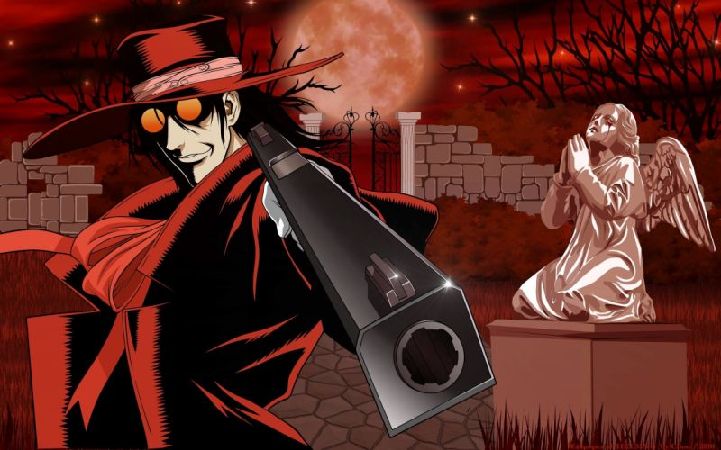anime series character Hellsing Red Smiling Vampire wallpaper