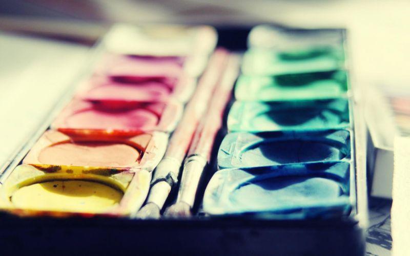 Watercolors Close Up wallpaper