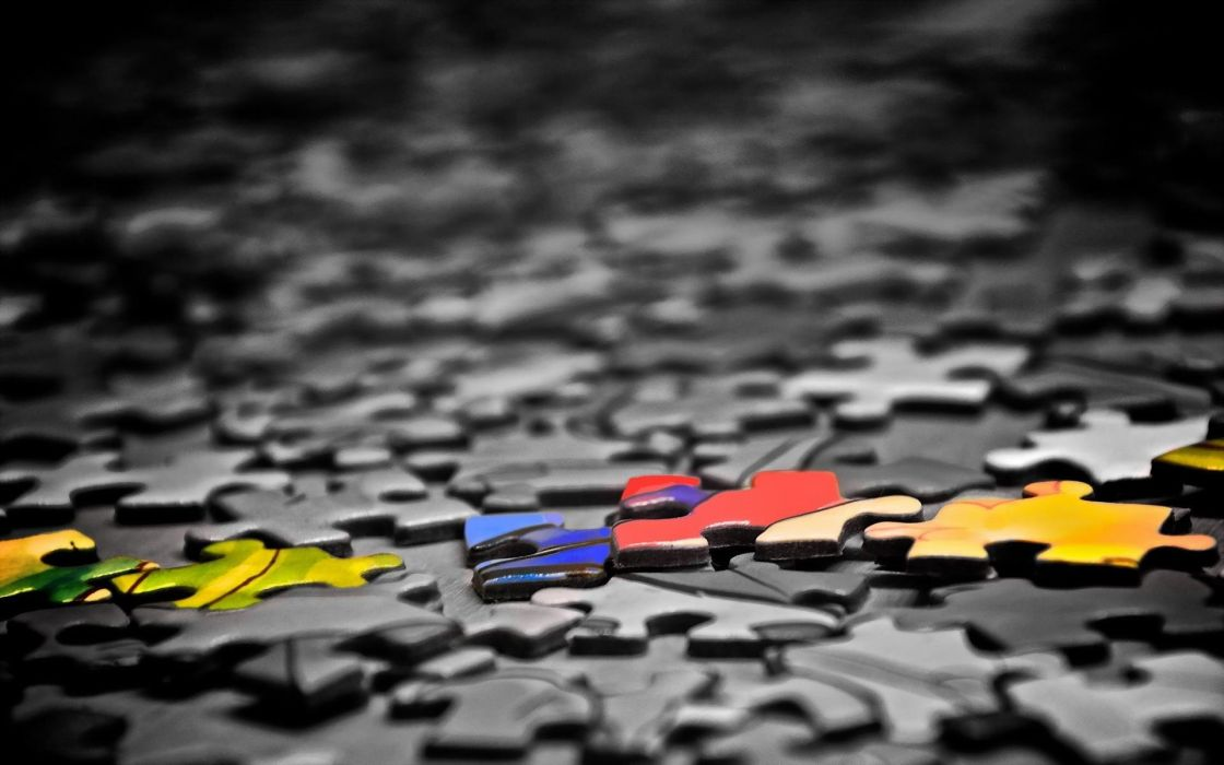 Colorful Puzzle Pieces Wallpaper
