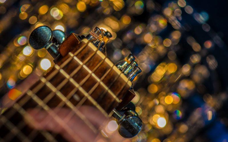 Guitar Head Strings wallpaper