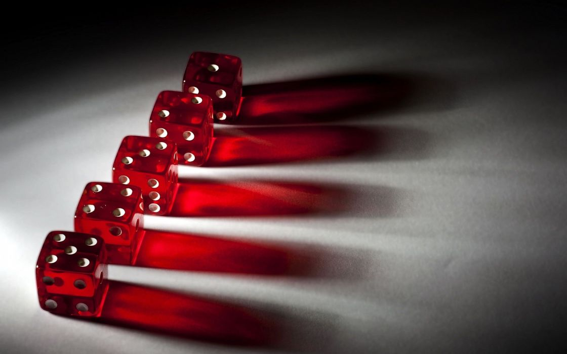 Five Red Dices wallpaper