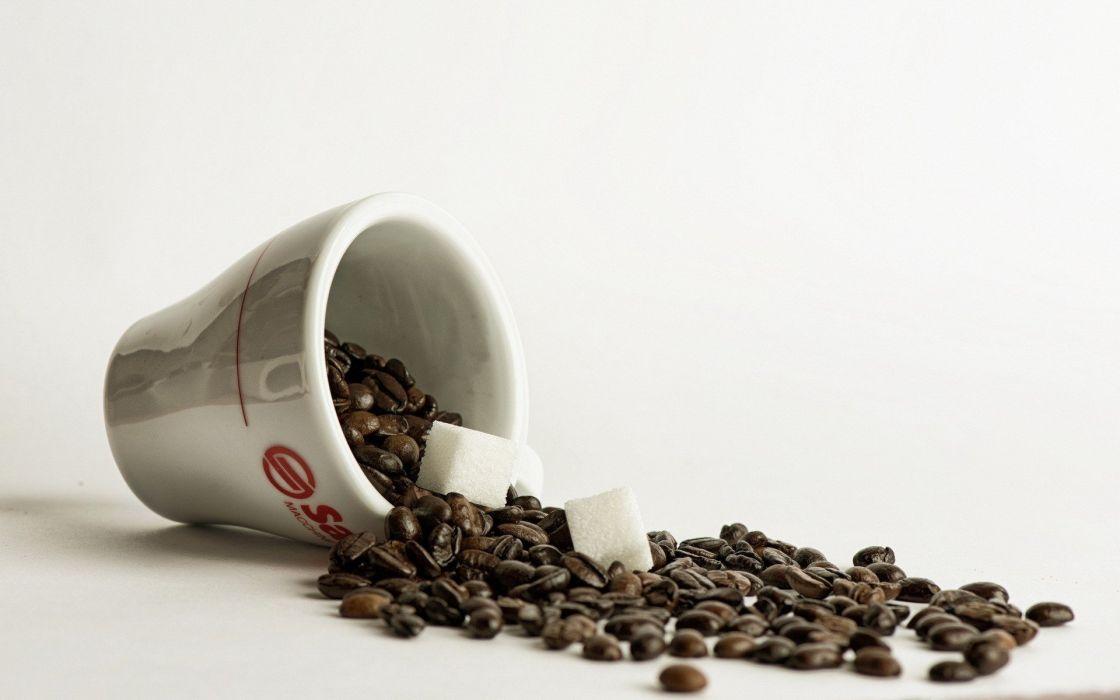 Coffee Cup Sugar Cubes wallpaper