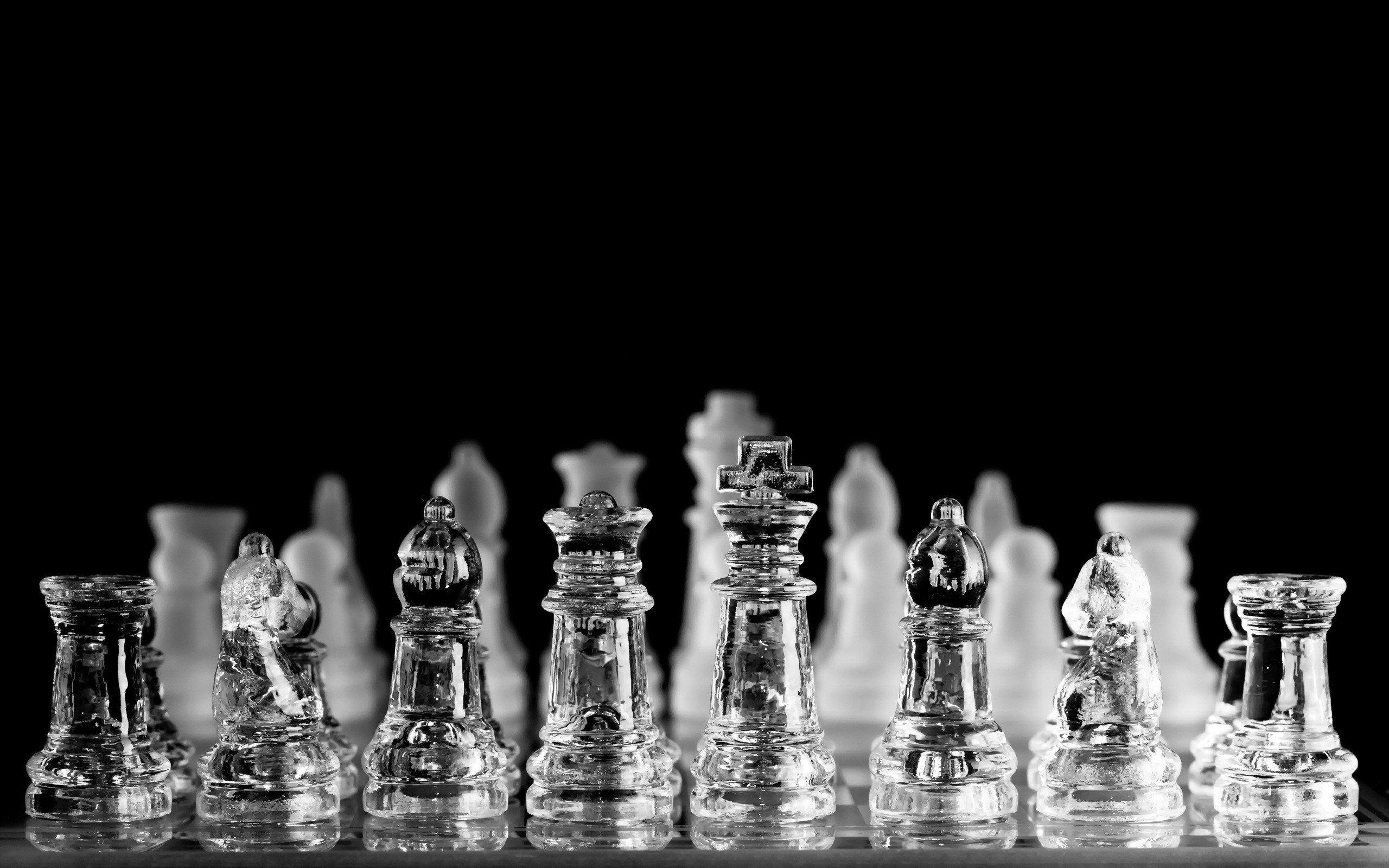 Glass Chess Pieces Wallpaper 2560x1600 726848 Wallpaperup