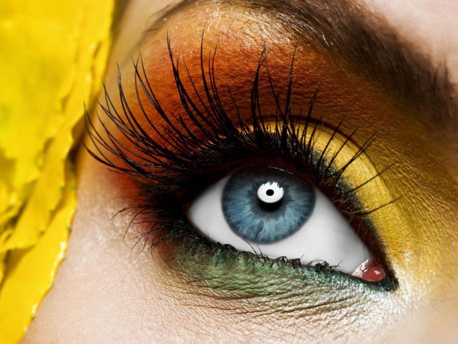 Blue Eye Yellow Makeup wallpaper