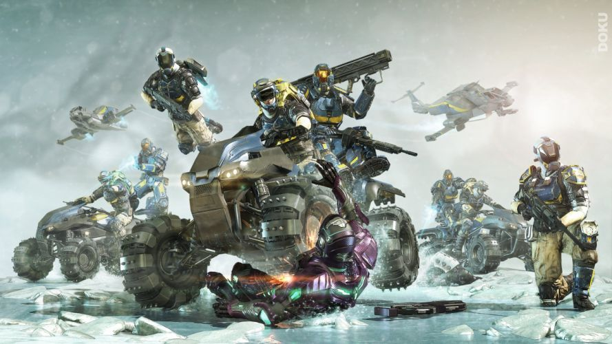 PLANETSIDE 2 sci-fi shooter futuristic sci-fi action warrior armor wallpaper