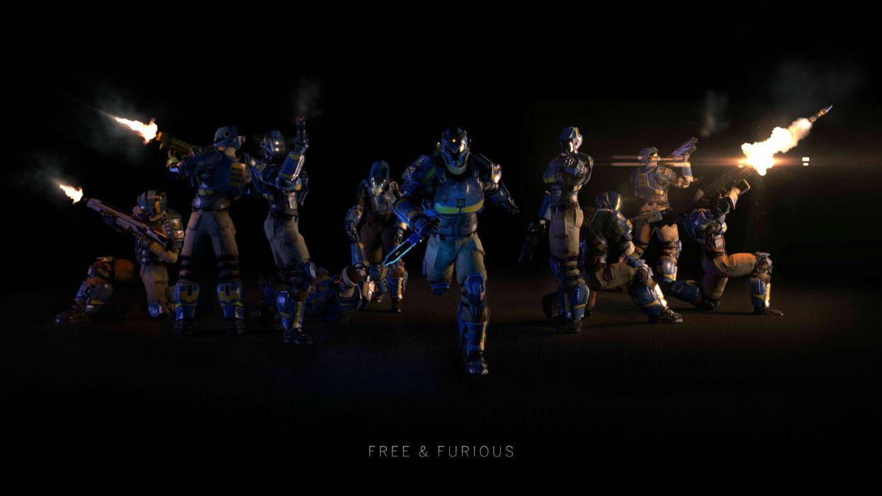 PLANETSIDE 2 sci-fi shooter futuristic sci-fi action warrior armor poster wallpaper