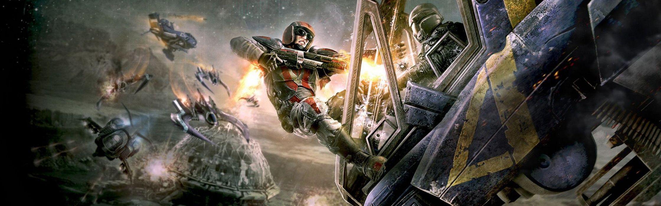 PLANETSIDE 2 sci-fi shooter futuristic sci-fi action warrior armor wallpaper