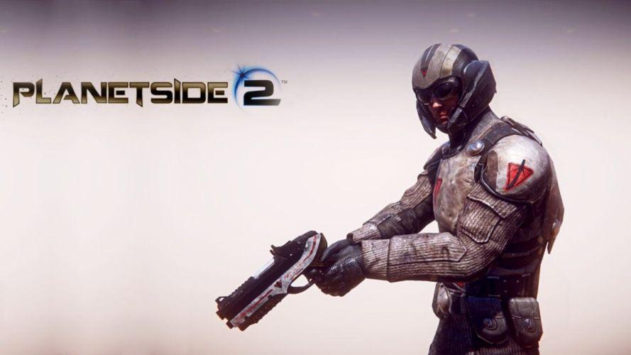 PLANETSIDE 2 sci-fi shooter futuristic sci-fi action warrior armor poster j wallpaper