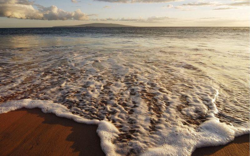 Foam Sea Wave Sand Coast Heat wallpaper