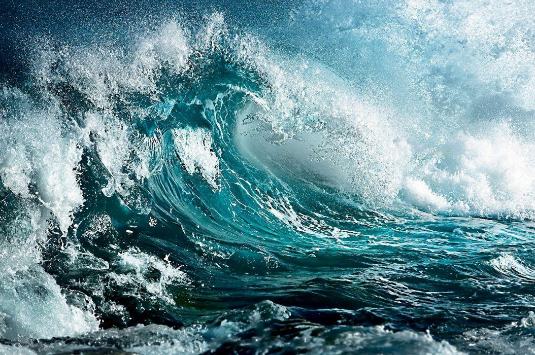 Sea Wave Storm Art Colors wallpaper
