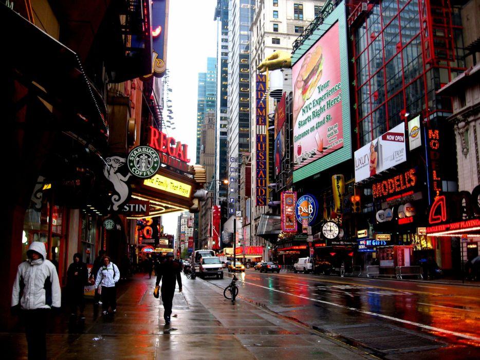 New york Overcast Advertising Building wallpaper