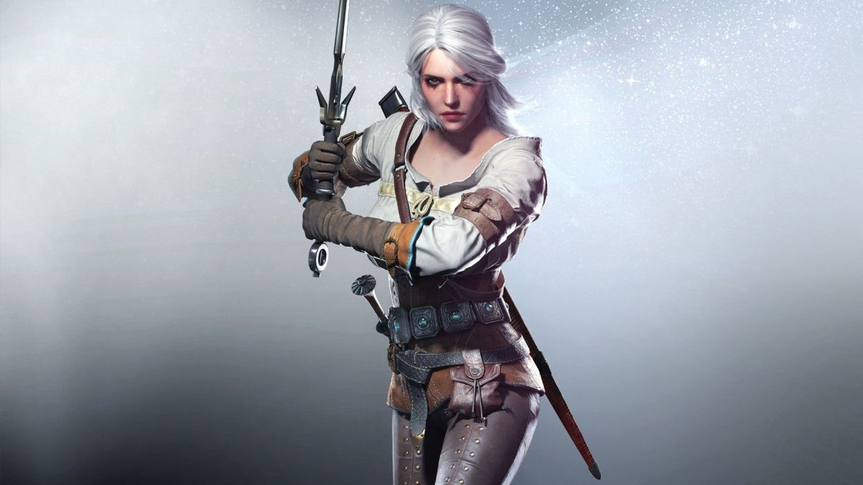 The witcher Sword Girl Look Cris Scar Zirael wallpaper