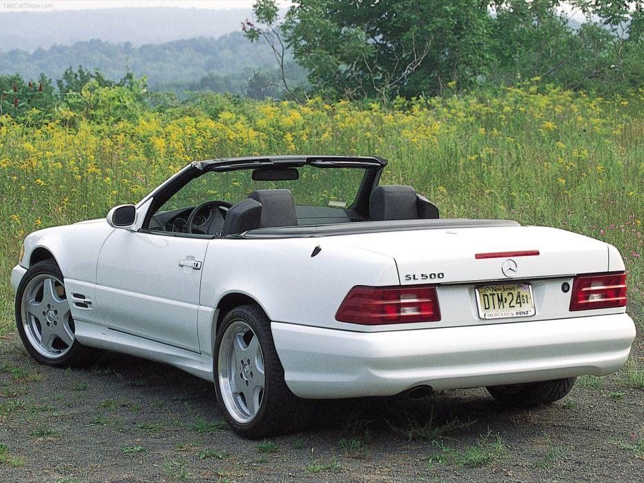 Mercedes-Benz SL-500 convertible cars 2001 wallpaper