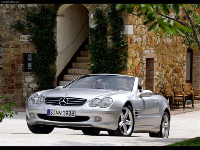 Mercedes-Benz SL-500 cars convertible 2003 wallpaper
