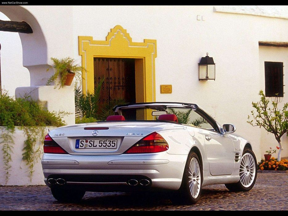 Mercedes-Benz SL-55 amg cars convertible 2003 wallpaper