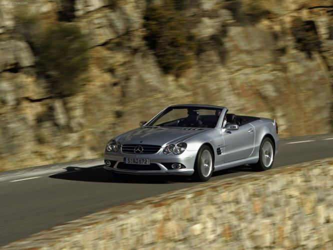 Mercedes-Benz SL-55 amg convertible cars 2006 wallpaper