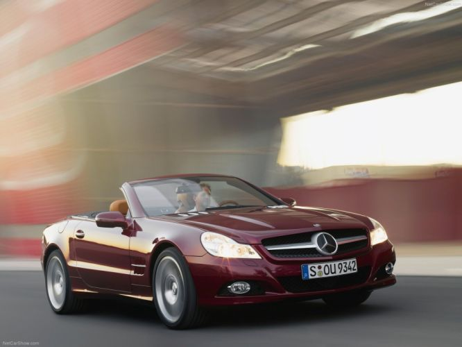 Mercedes-Benz SL-500 convertible cars 2009 wallpaper