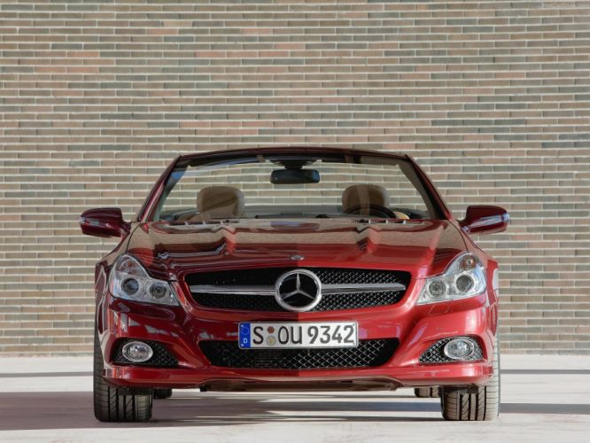 Mercedes-Benz SL-500 convertible cars 2009 wallpaper