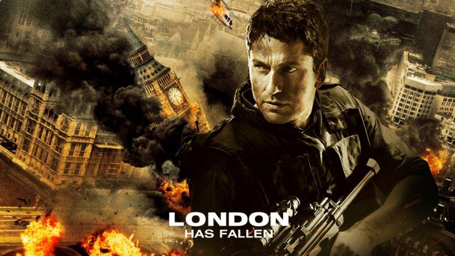 LONDON HAS FALLEN actionm crime thriller police 1lhf poster wallpaper