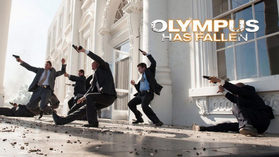 OLYMPUS HAS FALLEN crime action thriller police 1ohf poster wallpaper