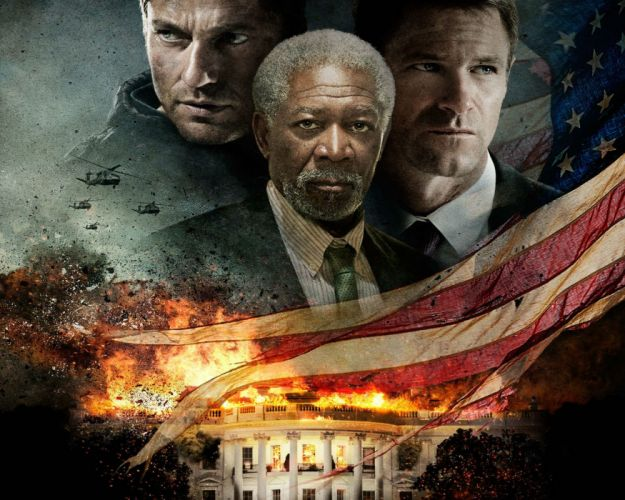 OLYMPUS HAS FALLEN crime action thriller police 1ohf fire flames wallpaper
