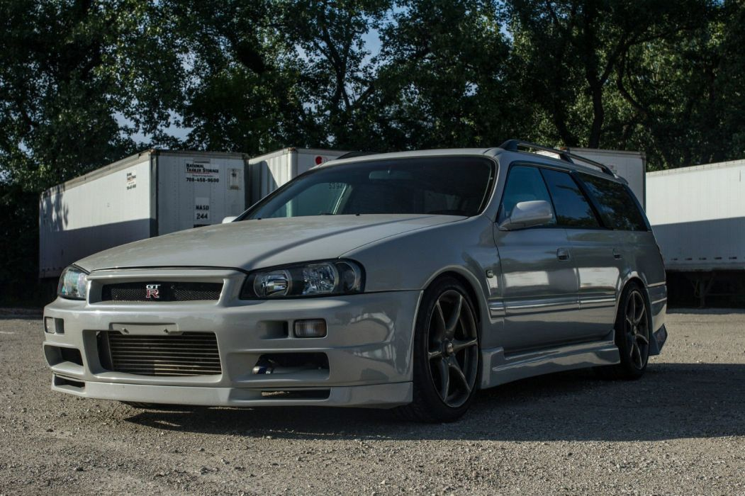 Nissan R34 GT-R Wagon cars modified wallpaper