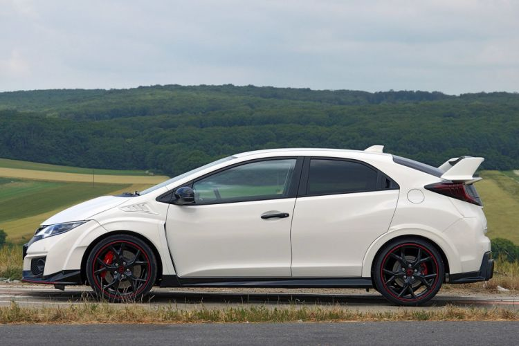 2015 cars civic Coupe Honda type-r white wallpaper