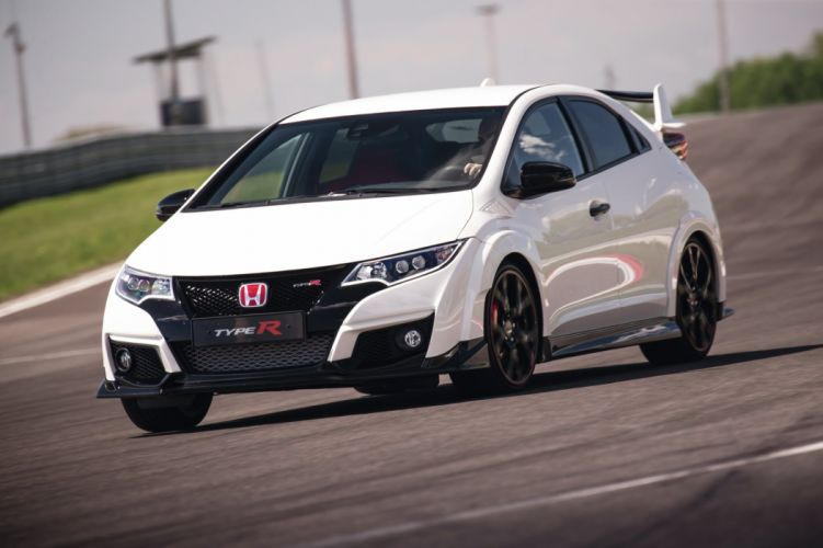 2015 cars civic Coupe Honda type-r white wallpaper
