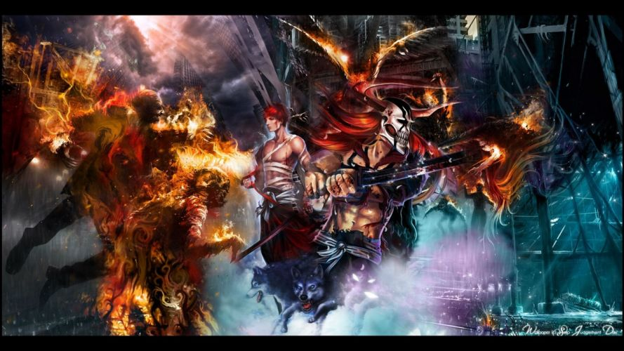 anime series character Bleach War wallpaper