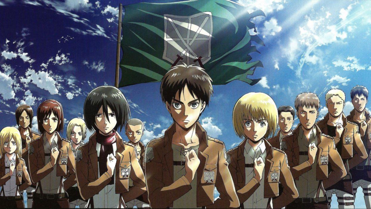 anime series character Shingeki No Kyojin group wallpaper