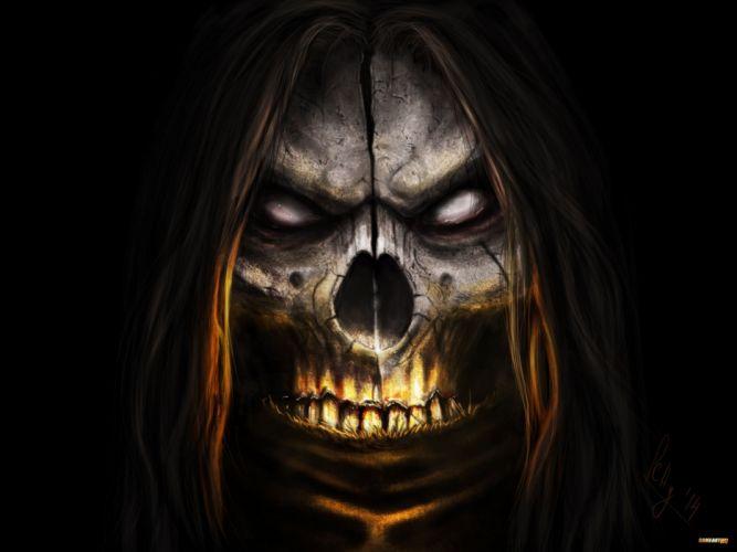 MORTAL KOMBAT X fighting action battle arena warrior 1mkx fantasy artwork dark skull wallpaper