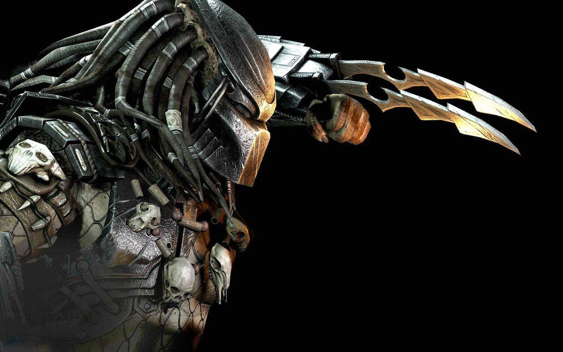 MORTAL KOMBAT X fighting action battle arena warrior 1mkx fantasy artwork predator alien sci-fi wallpaper
