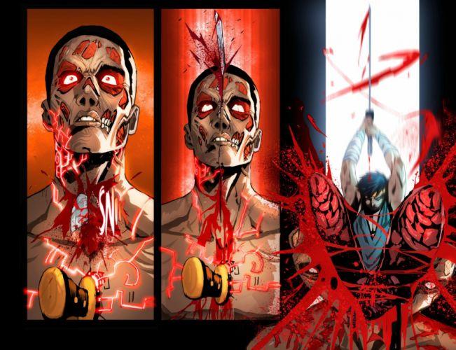 MORTAL KOMBAT X fighting action battle arena warrior 1mkx fantasy artwork poster blood wallpaper