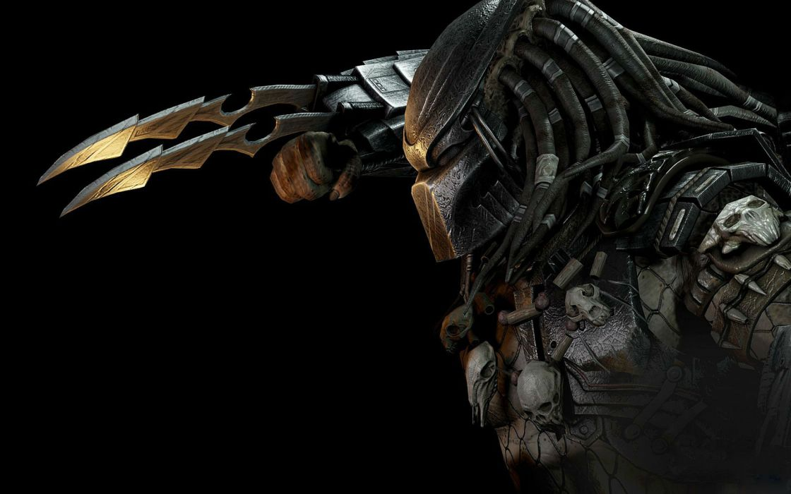 MORTAL KOMBAT X fighting action battle arena warrior 1mkx fantasy artwork predator alien sci-fi wallpaper