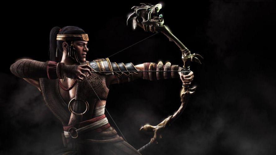 MORTAL KOMBAT X fighting action battle arena warrior 1mkx fantasy artwork archer wallpaper