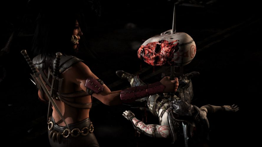 MORTAL KOMBAT X fighting action battle arena warrior 1mkx fantasy artwork blood wallpaper