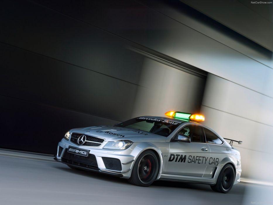 Mercedes-Benz C63 AMG Coupe Black Series DTM Safety Car 2012 wallpaper