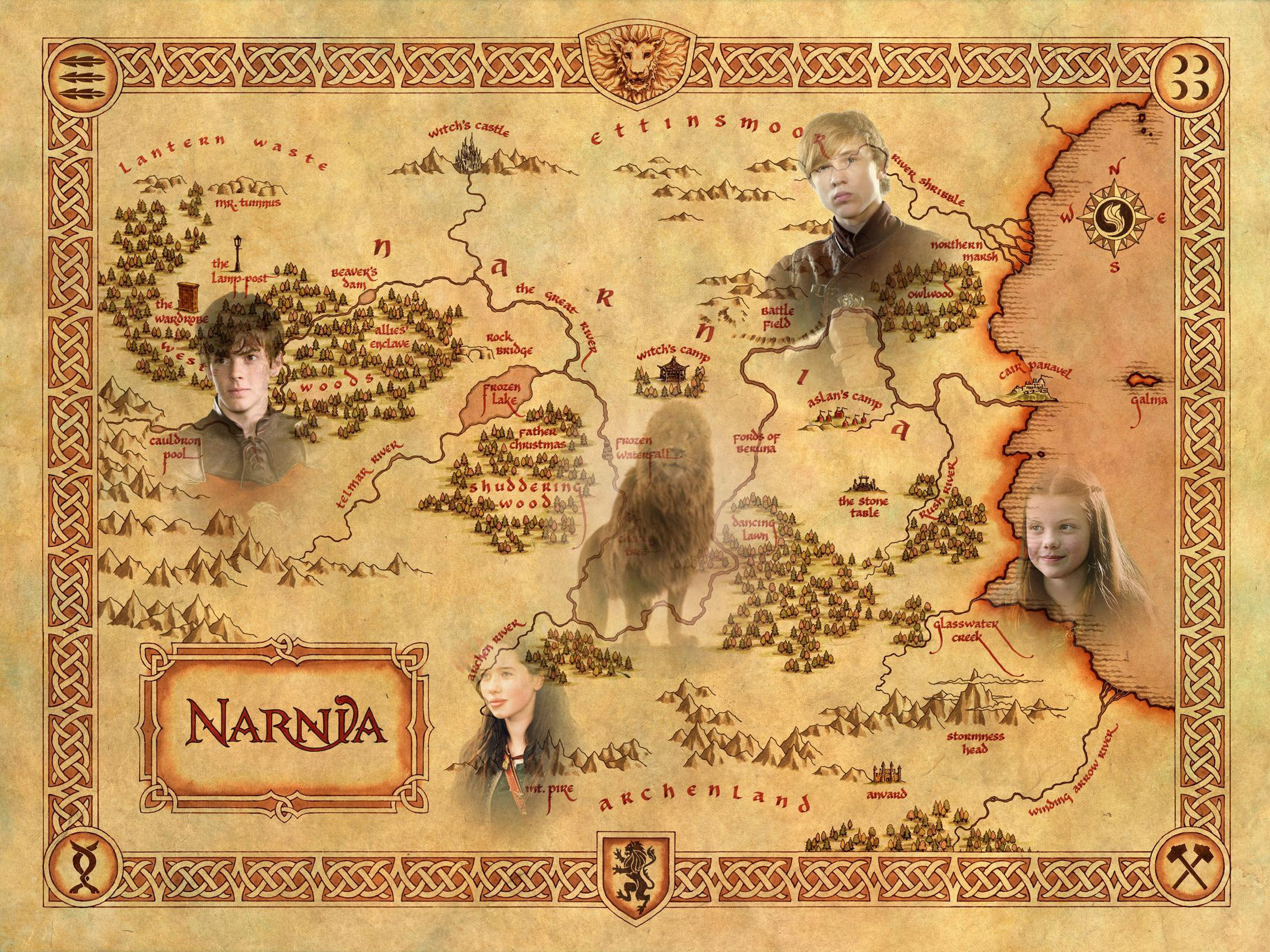 ... fantasy family series book 1narnia chronicles disney poster map