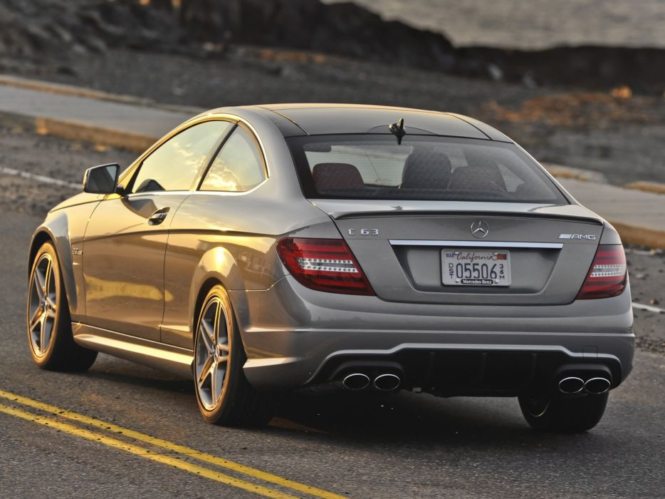Mercedes-Benz C63 AMG Coupe us-spec C204 cars 2011 wallpaper