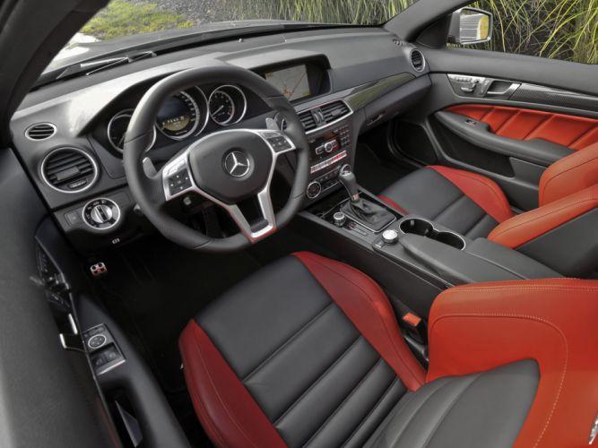 Mercedes-Benz C63 AMG Coupe us-spec C204 cars 2011 wallpaper