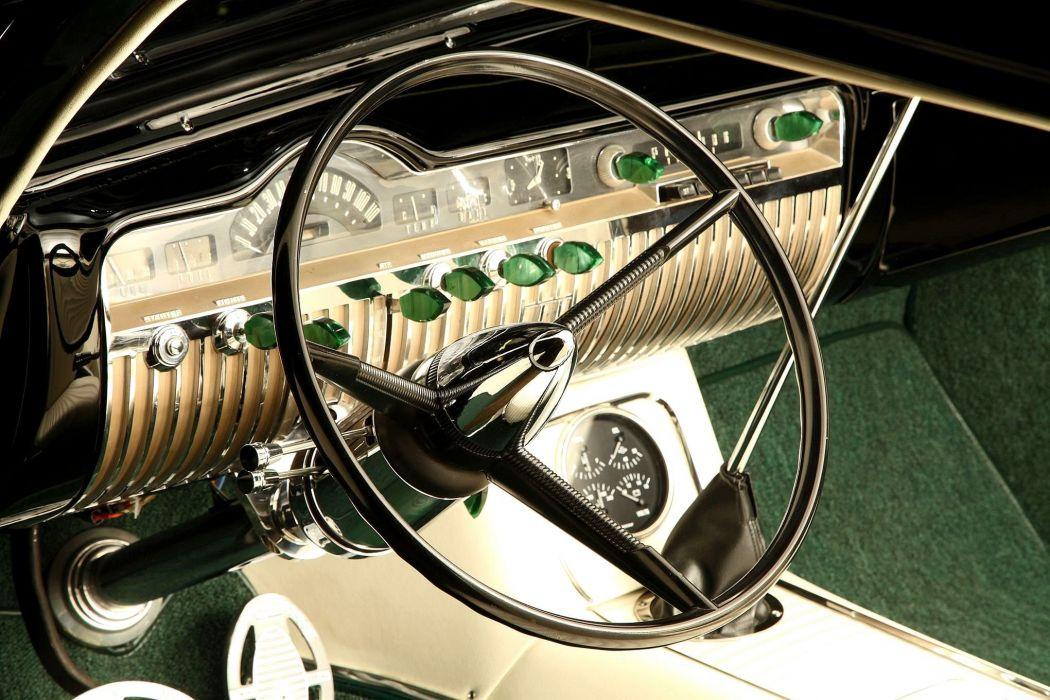 1950 Mercury CoupeHotrod Hot Rod Custom Kustom Old School Black Low Chopped USA -03 wallpaper