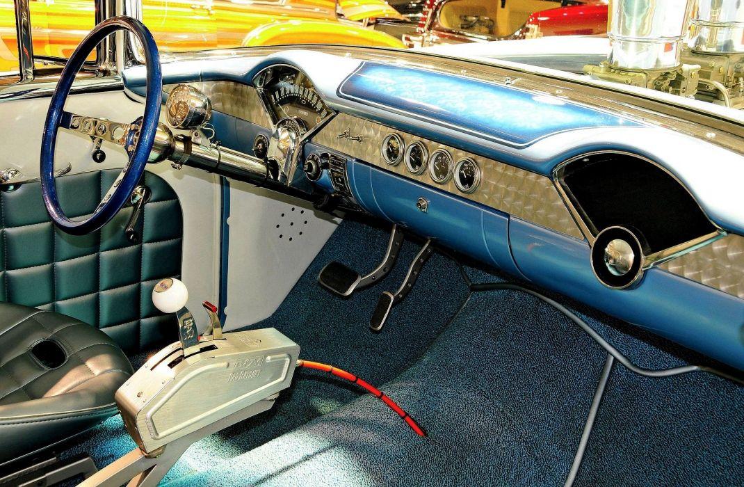 1955 Chevrolet Chevy 210 Belair Bel Air Drag Gasser Race USA -04 wallpaper