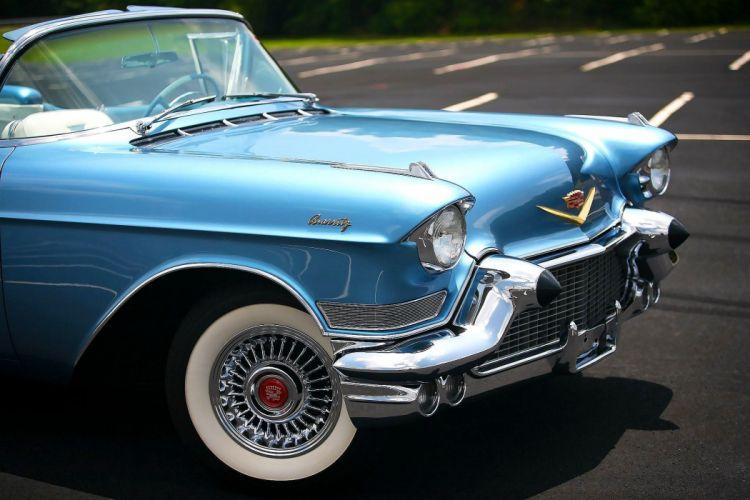 1957 Cadillac Eldorado Biarritz Convertible Classic Old Retro Vintage Original USA -04 wallpaper