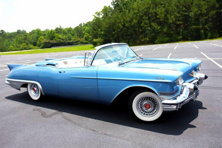 1957 Cadillac Eldorado Biarritz Convertible Classic Old Retro Vintage Original USA -09 wallpaper