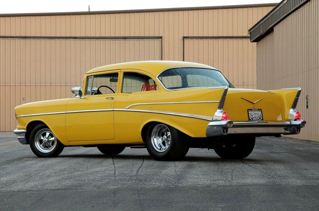 1957 Chevrolet Chevy Belair Bel Air 210 Pro Street Super Drag USA -05 wallpaper