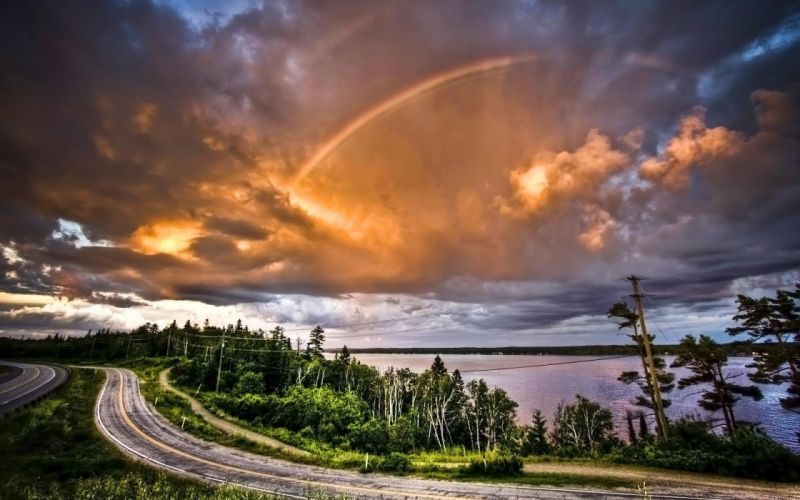paisaje naturaleza nubes carretera wallpaper
